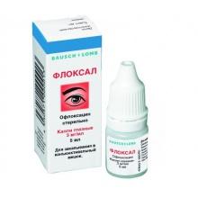 Флоксал капли глазные 0,3%, 5 мл