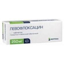 Левофлоксацин таблетки 250 мг, 5 шт.