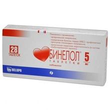 Бинелол таблетки 5 мг, 28 шт.