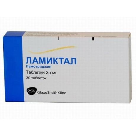 Ламиктал таблетки 25 мг, 30 шт.