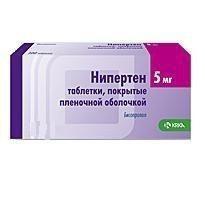 Нипертен таблетки 5 мг, 30 шт.