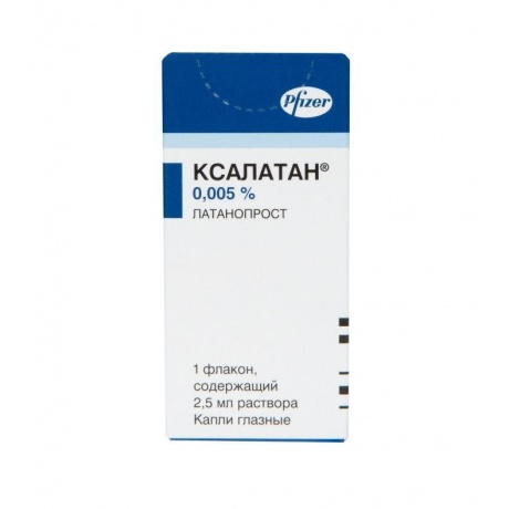 Ксалатан капли глазные 0,005%, 2,5 мл, 1 шт.