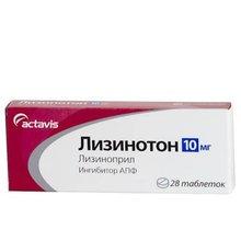 Лизинотон таблетки 10 мг, 28 шт.