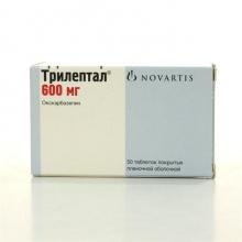 Трилептал таблетки 600 мг, 50 шт.