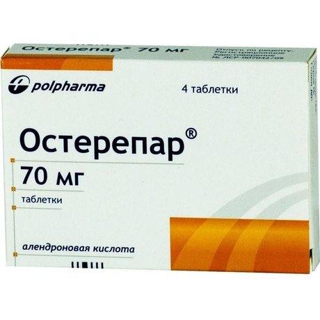 Остерепар таблетки 70 мг, 4 шт.