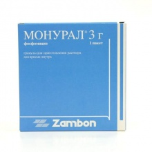 Монурал пакетики (гранулы для приготовления раствора для приема внутрь) 3 г, 1 шт.