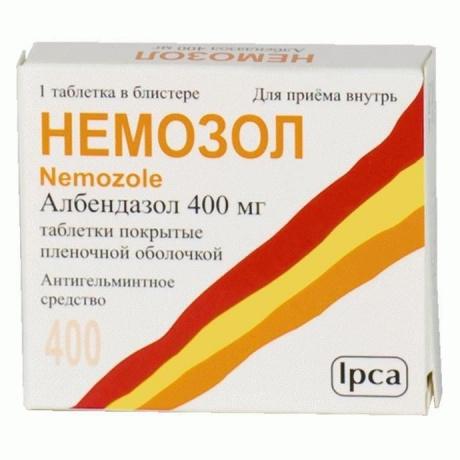Немозол таблетки жевательные 400 мг, 1 шт.