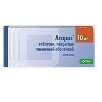 Аторис таблетки 10 мг, 90 шт.