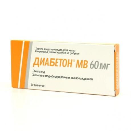 Диабетон MB таблетки 60мг №30