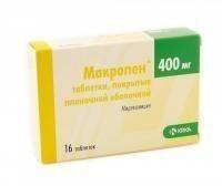 Макропен таблетки 400 мг, 16 шт.
