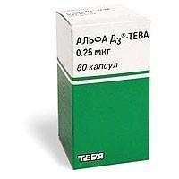Альфа Д3-Тева капсулы 0,25 мкг, 60 шт.