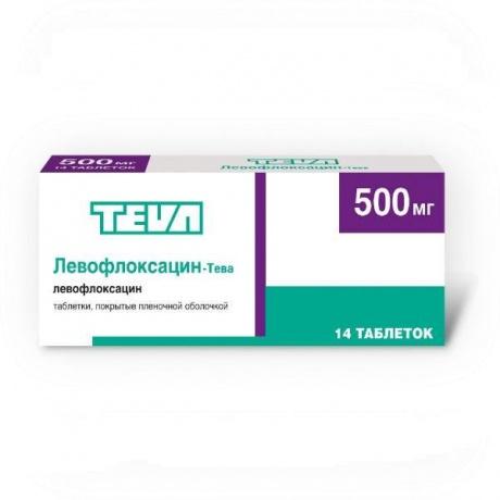 Левофлоксацин-Тева таблетки 500 мг, 14 шт. цена в Симферополе 341 р. купить дешево. Инструкция по применению, аналоги, отзывы