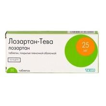Лозартан-Тева таблетки 25 мг, 30 шт.