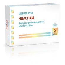Ниаспам капсулы пролонгированного действия 200 мг, 30 шт.