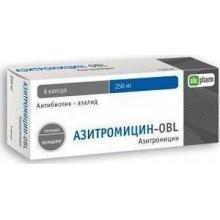 Азитромицин Форте-OBL таблетки 500 мг, 3 шт.