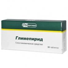 Глимепирид таблетки 2 мг, 30 шт.