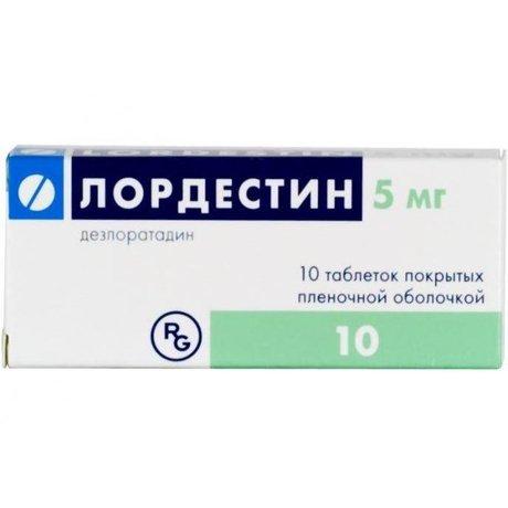 Лордестин таблетки 5мг, 10 шт.