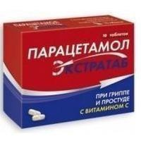 Парацетамол Экстратаб 500 мг+150 мг таблетки, 10 шт.
