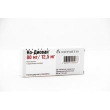 Ко-диован таблетки 80/12,5 мг, 28 шт.