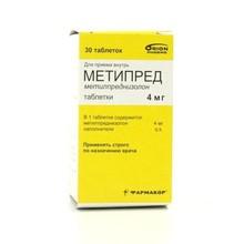 Метипред таблетки 4 мг, 30 шт.