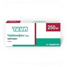 Тербинафин-Тева таблетки 250 мг, 14 шт.