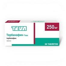 Тербинафин-Тева таблетки 250 мг, 28 шт.