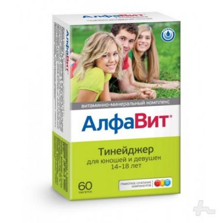 АлфаВит Тинейджер таблетки, 60 шт.