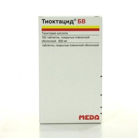 Тиоктацид БВ таблетки 600 мг, 100 шт.