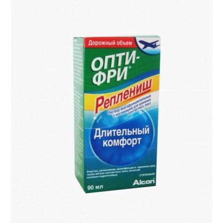 Раствор для контактных линз OPTI-FREE Replanish, 90 мл + контейнер