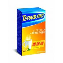 ТераФлю от гриппа и простуды пакетики, 4 шт. (лимон)