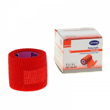 Бинт PEHA-HAFT самофиксирующийся 4м х 4см (красный)
