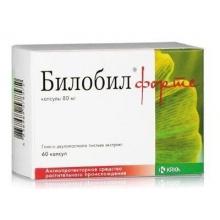 Билобил форте капсулы 80 мг, 60 шт.