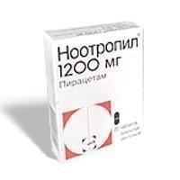 Ноотропил таблетки 1200 мг, 20 шт.
