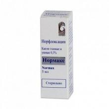 Нормакс капли глазные-ушные 0,3%, 5 мл
