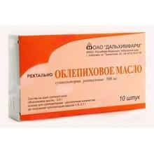 Облепиховое масло свечи ректальные 500 мг, 10 шт.