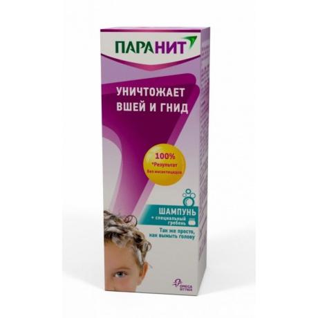 Паранит шампунь 200 мл (педикулицидное средство) + расческа