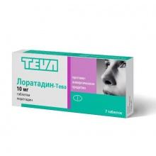 Лоратадин-Тева таблетки 10мг, 7шт