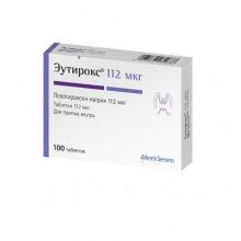 Эутирокс таблетки 112 мкг, 100 шт.