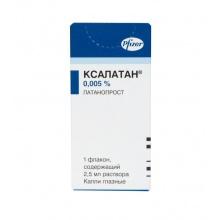 Ксалатан капли глазные 0,005%, 2,5 мл, 3 шт.