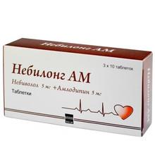 Небилонг АМ таблетки 5мг + 5мг, 30 шт.