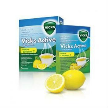 Викс Актив Симптомакс пакетики, 5 шт. (лимон)