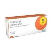 Тевастор таблетки 10 мг, 30 шт.
