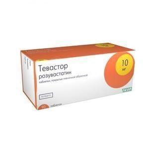 Тевастор таблетки 10 мг, 90 шт.