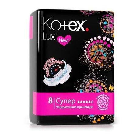 Прокладки гигиенические KOTEX Lux Super, 8 шт.