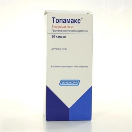 Топамакс капсулы 50 мг, 60 шт.