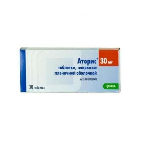 Аторис таблетки 30 мг, 30 шт.