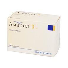 Амарил таблетки 3 мг, 90 шт.