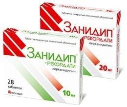 Занидип-Рекордати таблетки 10 мг, 28 шт.