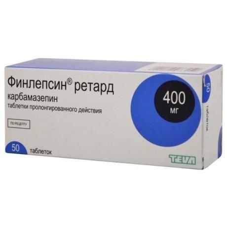 Финлепсин ретард таблетки пролонгированного действия 400 мг, 50 шт.