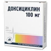 Доксициклин капсулы 100 мг, 20 шт. цена в Туле 20 р. купить дешево. Инструкция по применению, аналоги, отзывы